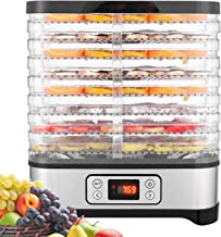 Food Dehydrator Machine, Fruit Dehydrators with 8-Tray, Digital Timer and Temperature...