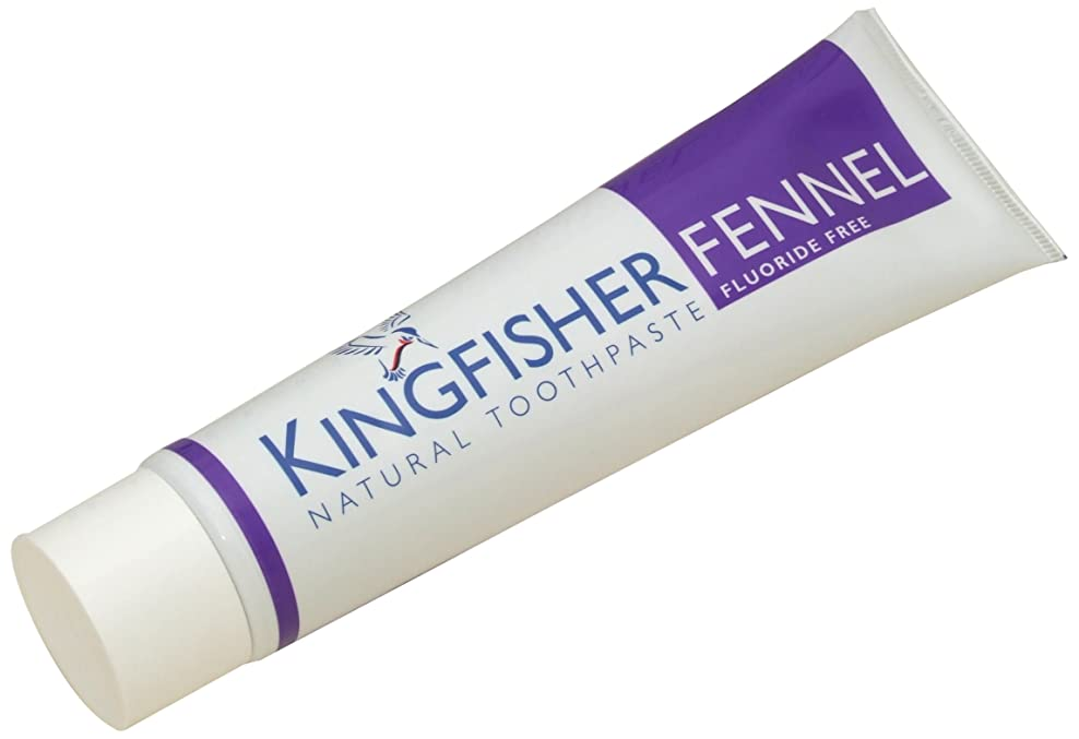 不和月面影響力のあるKingfisher Toothpaste - Fennel (Fluoride Free) 100ml