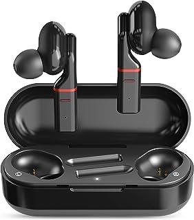 $49 » SimpTronic True Wireless Earbuds Bluetooth 5.0 Headphones in-Ear TWS Mini Headset for Sport Deep Bass Stereo Earphones HD Sound Waterproof Noise Cancelling Mic 30 Hours Playtime Black
