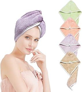 XZP - Toallas de pelo de secado rápido para mujer, pelo largo y grueso, secado rápido, se seca rápidamente en tres minutos, hechas de microfibra de felpa de 19.40oz/m² (toallas de secado rápido para el cabello)