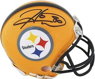 Hines Ward Signed Mini Helmet - Yellow BAS Witness - Beckett Authentication - Autographed NFL Mini Helmets