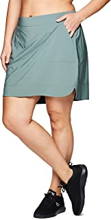 RBX Active Women's Plus Size Stretch Woven Athletic Skort with Inner Bike Short