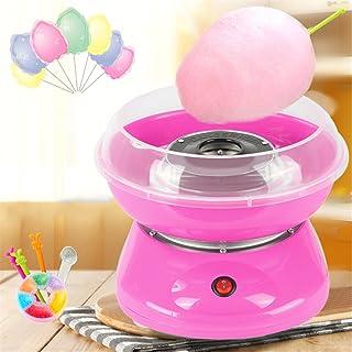 Électrique Candy Floss Maker Cadeaux pour Maison pour Enfants,Gourmet Gadgetry Machine à barbe à papa 220V EU 450W (Rose)