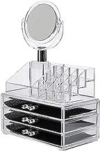 DEVZA Acrylic Jewellery Storage Boxes with Mirror