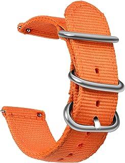 OLLREAR Nylon Bracelet Montre Toile Bracelet Montre Armée Militaire - 9 Colors & 3 Sizes