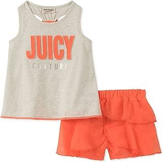 Juicy Couture 女婴短裤 2 件套 Gray/Coral 8/10