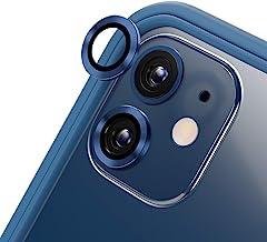 RhinoShield [Pack de 2] Protection pour objectifs Photo Compatible avec [iPhone 12 Mini / 12]   Verre trempé 9H résistant aux Rayures avec Une Fine Bordure en Aluminium anodisé - Bleu
