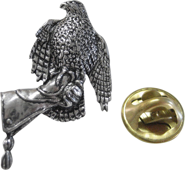 Hawk Bird On Glove Lapel Pin