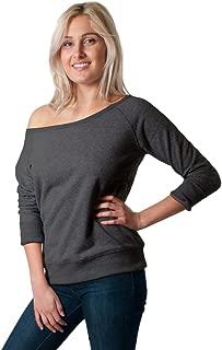 Women's Off The Shoulder Wide Scoop Neck Sweatshirt