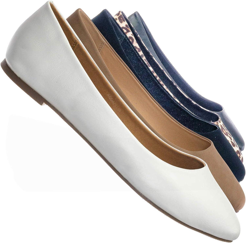 Ballet Pointy Toe Slip On Flats - Women Fashion Slipper Ballerina Shoes