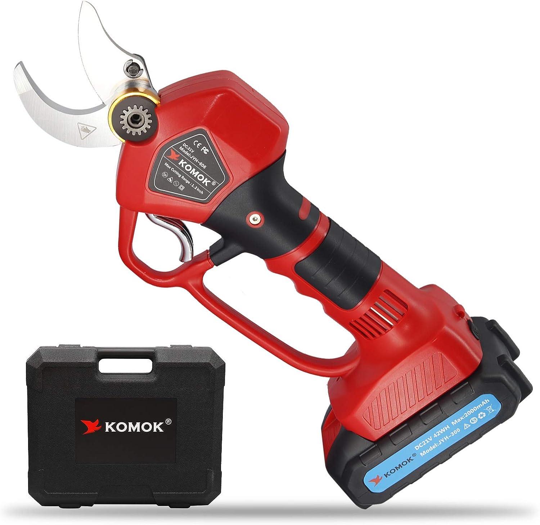 Popular Seasonal Wrap Introduction popular KOMOK Cordless Electric Pruning Rechargeable Backup 2PCS Shears