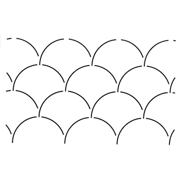 Quilting Creations Shell Design Quilt Stencil