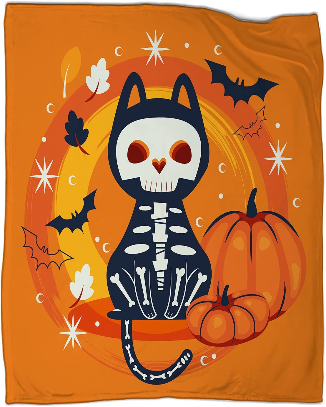 Halloween Cat Disguised of 5 Max 79% OFF ☆ popular Skull Blanket Soft Coz Character