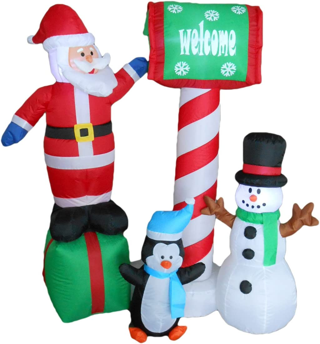 BZB Goods 5 Limited time sale Max 79% OFF Foot Tall Christmas and Penguin Inflatable Santa Sno