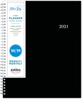 "Blue Sky 2021 Weekly & Monthly Planner, Flexible Cover, Twin-Wire Binding, 8.5"" x 11"", Enterprise (124093)"