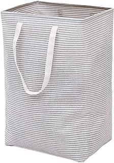 IHOMAGIC ランドリーバスケット衣類のおもちゃに使用できる 洗濯かご、持ち運び可能な延長ハンドル付きの折りたたみ式の大きな ランドリーバッグ