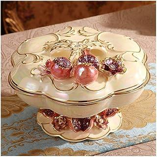 Plateau de fruits avec couvercle, Fruit européen Céramique Houseware Fruit Basket PlateDried fruits Plaque compartiment av...
