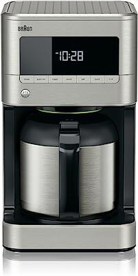 Braun KF7175 BrewSense Drip Coffee Maker with Thermal Carafe, 10 Cup