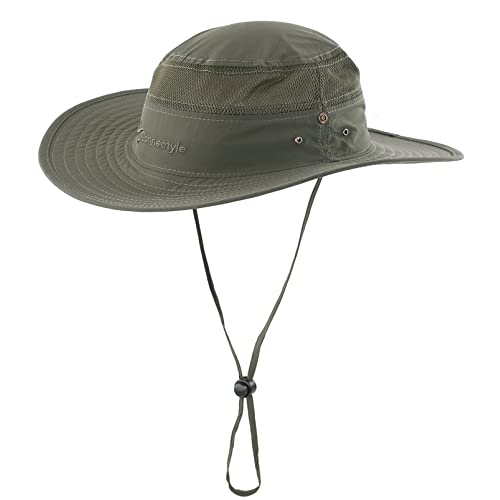Connectyle Outdoor Mesh Sun Hat Wide Brim UV Sun Protection Hat Fishing  Hiking Hat 9061cf0146c8