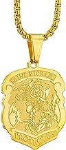 Apopo Vintage Saint Michael Shield Pendant Jewelry Stainless Steel Necklace Archangel Chain for Men&Women