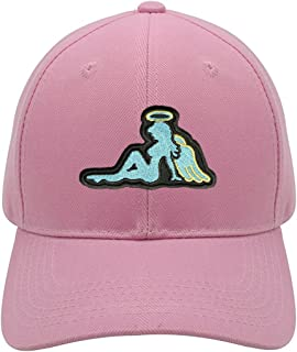 Angel Mudflap Girl Hat - Adjustable Pink Womens Cap