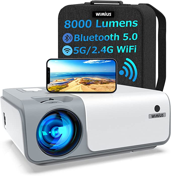 174 opinioni per Proiettore WiMiUS WiFi Bluetooth 5G, Proiettore 8000 Lumen Full HD Nativo 1080P