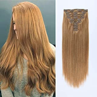 caramel blonde clip in hair extensions