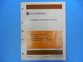 ALLEN-BRADLEY SLC 500 PROGRAMMABLE CONTROLLER INSTALLATION & OPERATION MANUAL