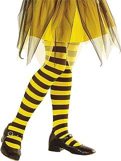 Widmann 01239 Strumpfhose Biene, 70 DEN, Mädchen, Schwarz/Gelb, 1-3 Jahre