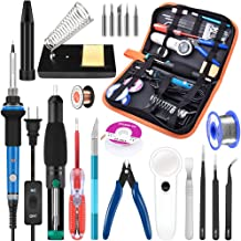 Soldering Iron Kit Electronics, 21-in-1, 60W Adjustable Temperature Soldering Iron, 5pcs..