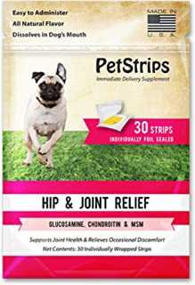 PetStrips Hip & Joint Relief for Dogs 30 Fast-Acting Strips