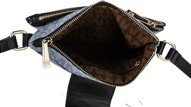 MKF Crossbody Bags for Women – Cross body Strap, Messenger Purse – PU Leather Handbag, Womens Fashion Pocketbook