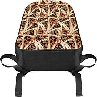 Primitive Casual Backpack,African Style Characteristic Tiger Skin Patterns Trendy Wild Animal Camouflage for College,One_Size