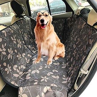 Zumeca Cubierta Asiento Coche Perro, Funda para Mascotas para Asiento de Coche, Impermeable, Funda de Asiento para Perros Universal para SUV, Camión, Transportar y Viaje (Marrón)