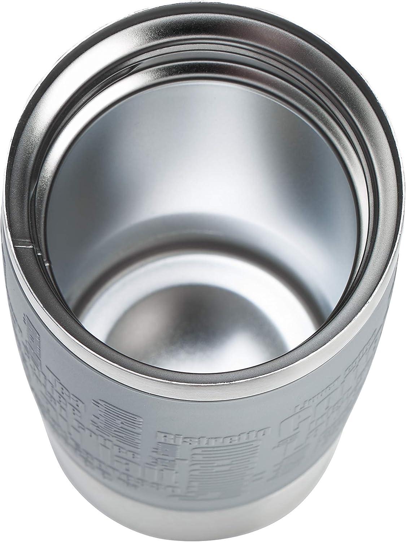 sans BPA 100 /% /étanche ouverture /à 360/° Rouge cassis 12 h froid 6 h chaud passe au lave-vaisselle 0,5 l Emsa N2013200 Travel Mug isotherme en acier inoxydable