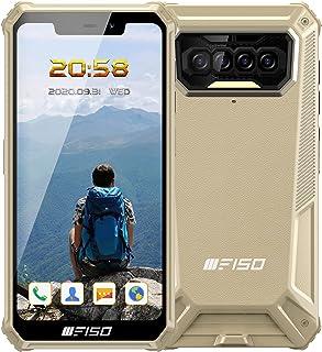 IIIF150 B2021 IP68防水 simフリー スマホ 本体 8000mAh Android 10.0 4G スマートフォン 本体 SIMフリースマートフォン 本体 6GB+64GB AIカメラ スマホ 防災用品顔・指紋認証ロック解除