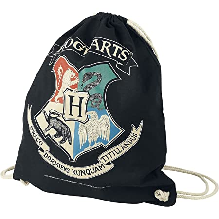 Harry Potter Hogwarts Unisex Turnbeutel Multicolor 100% Baumwolle Fan-Merch, Filme, Hogwarts