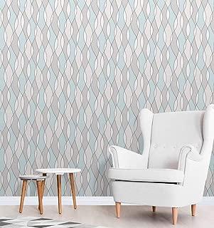 Apex Wave Geometric Wallpaper Blue Fine Decor FD42171