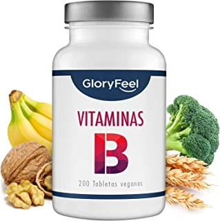 GloryFeel® Vitamina B Complex - 200 tabletas veganas de