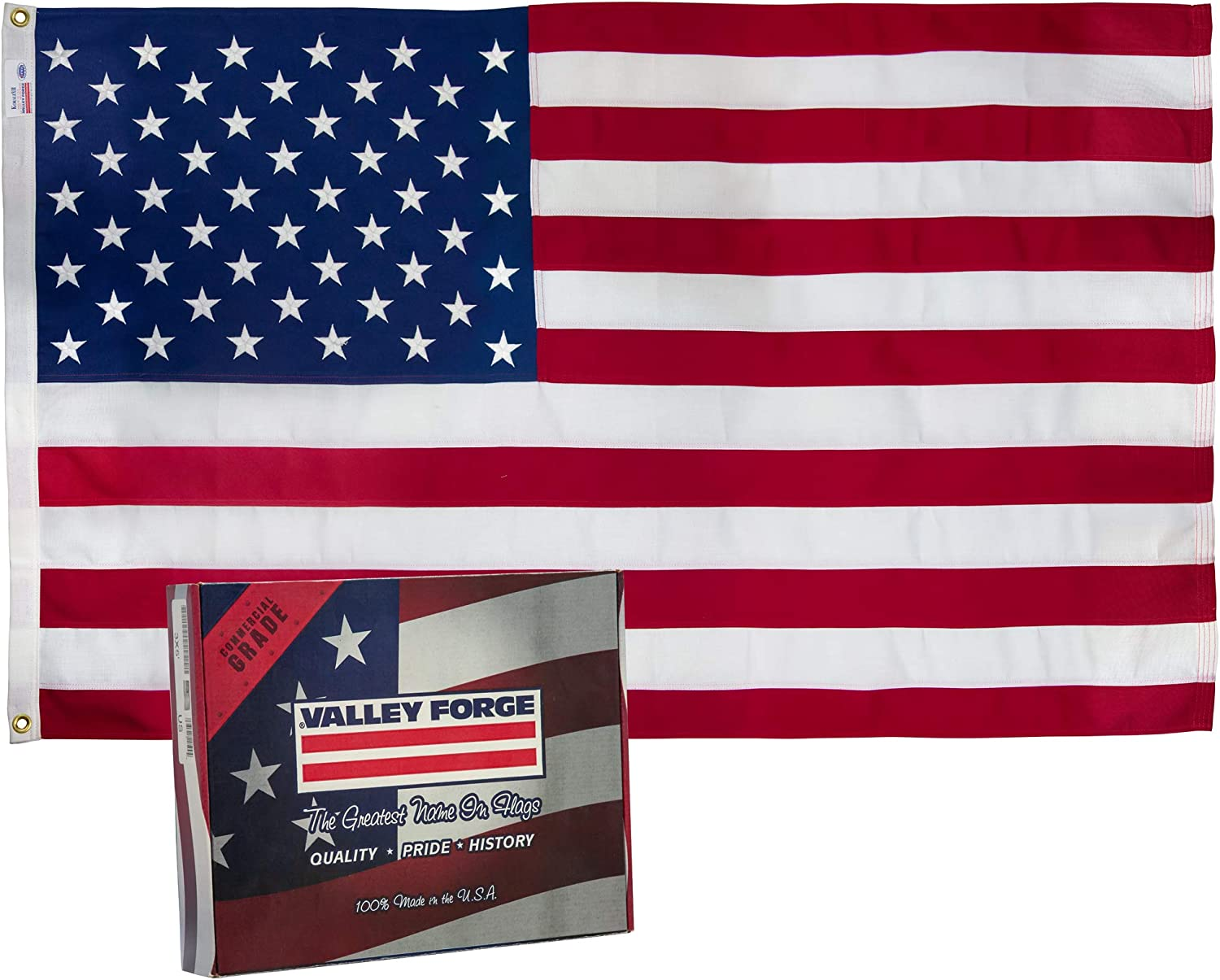 Valley Forge Flag 3 x 5 Foot Standard 2Ply Spun Polyester US American Flag