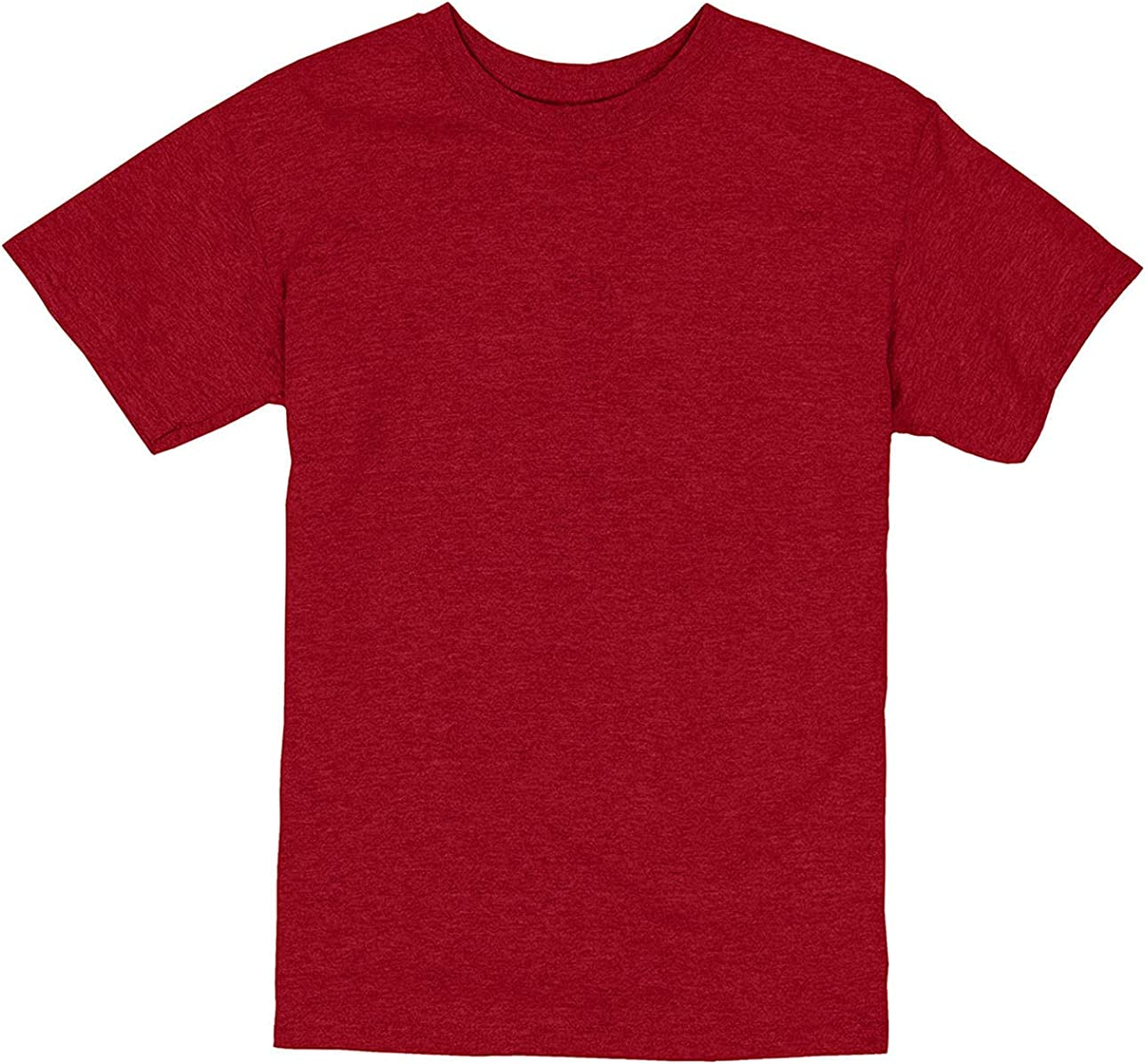 Hanes - ComfortSoft Youth Short Sleeve T-Shirt - 5480 - M - Red Pepper Heather