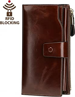 Itslife Women's RFID Blocking Large Capacity Luxury Wax...