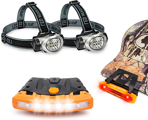wholesale EverBrtite Ourdoor Headlamp Bundle online - 2 LED Headlamp + 2 sale Rechargable Cap Light - Lighting Pack for Outdoors, Camping, Hiking online