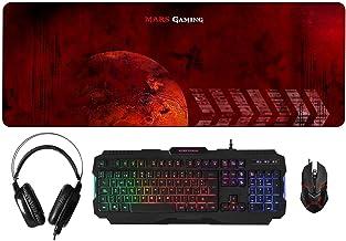 Mars Gaming MCPRGB, Pack Gaming RGB Teclado, Ratón, Auriculares y Alfombrilla