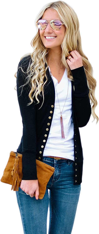 KAE THE LABEL, Women's Snap Button Cardigan