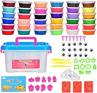 Arcilla Seca al Aire 36 Colores Cozywind DIY Slime Kit para