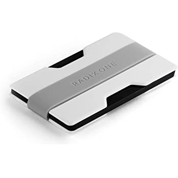 Radix One Slim Wallet (White/Gray) - Minimalist Ultralight Thin Polycarbonate Money Clip