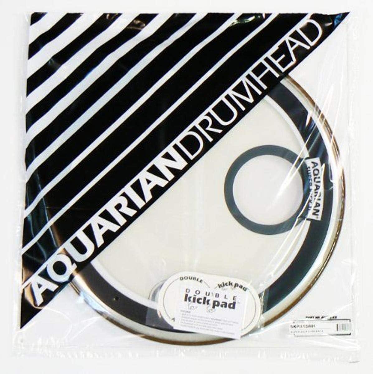 Aquarian 買い取り Drumheads SKPII18WH Super-Kick 18-inch Bass Prepack II 大人気