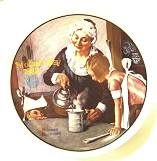 Knowles The Cooking Lesson Norman Rockwell plate - Mothers Day series - Year 1982 - CP1236