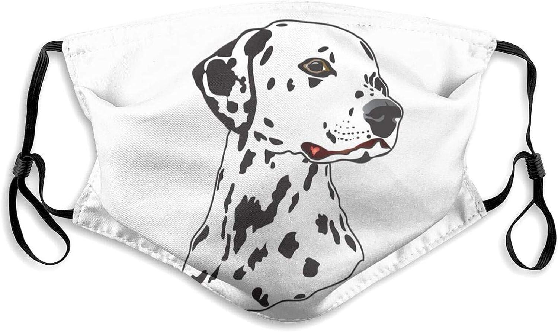 Osvbs Face mask for Women Men's Wash Dog Masks Dalmatian overseas Max 81% OFF Cartoon